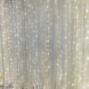 white curtain-lights