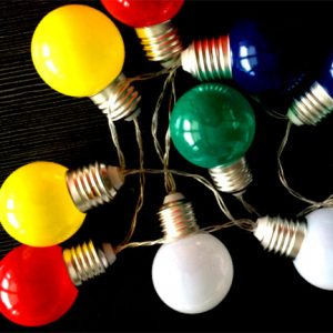 Battery globe shape string lights