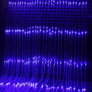 Commercial animated blue LED waterfall curtain lights