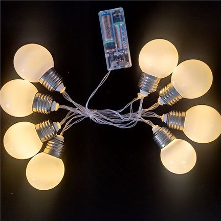 G45 globe bulbs battery operated christmas lights