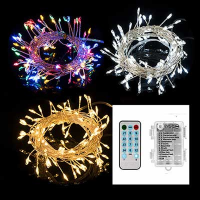 USB micro led cluster fairy string lights remote control