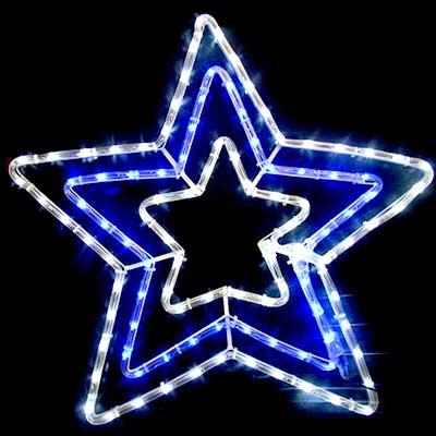 3 layer LED star lights Christmas motif