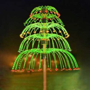 5 layers animated LED fireworks lights Christmas decor