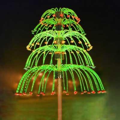 5 layers animated LED fireworks lights Christmas decor