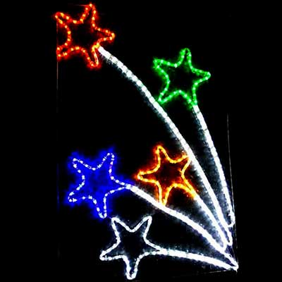 Christmas-LED Star-motif pole mounted lights