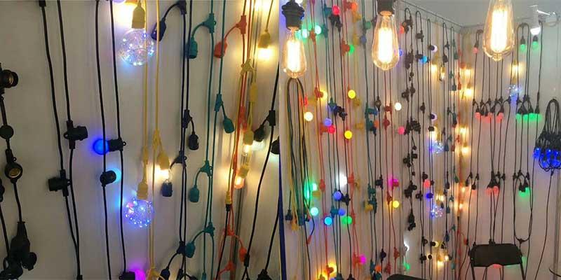 Christmas led festoon lighting commercial decor