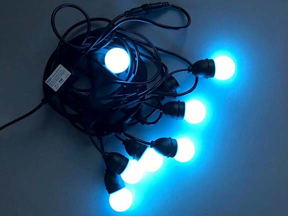 E27 string cables commercial lights