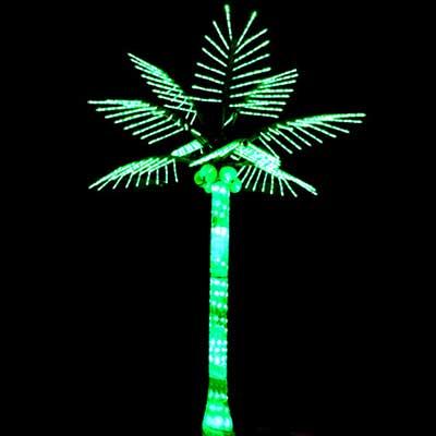H3m green LED palm coconut tree lights
