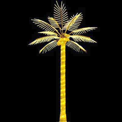 H5 yellow LED coconut palm tree lights Christmas outdoor decoration