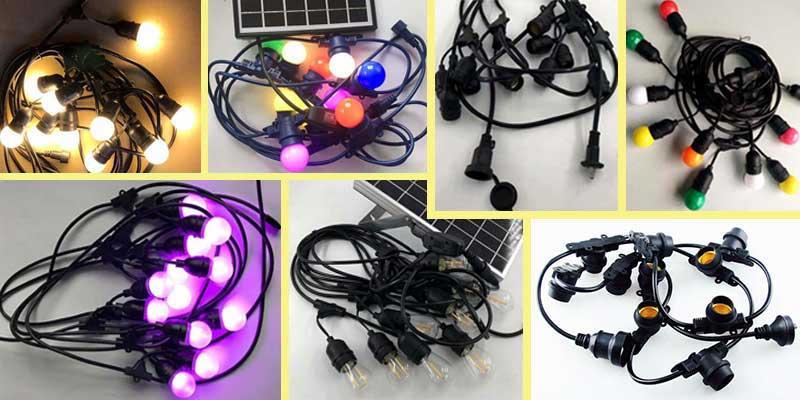 LED Festoon lighting outdoor deco
