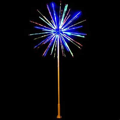 LED firework lights Christmas outdoor decor