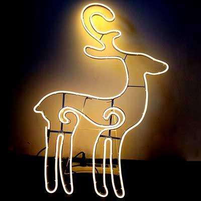 LED neon deer sign standing Xmas Reindeer lighting