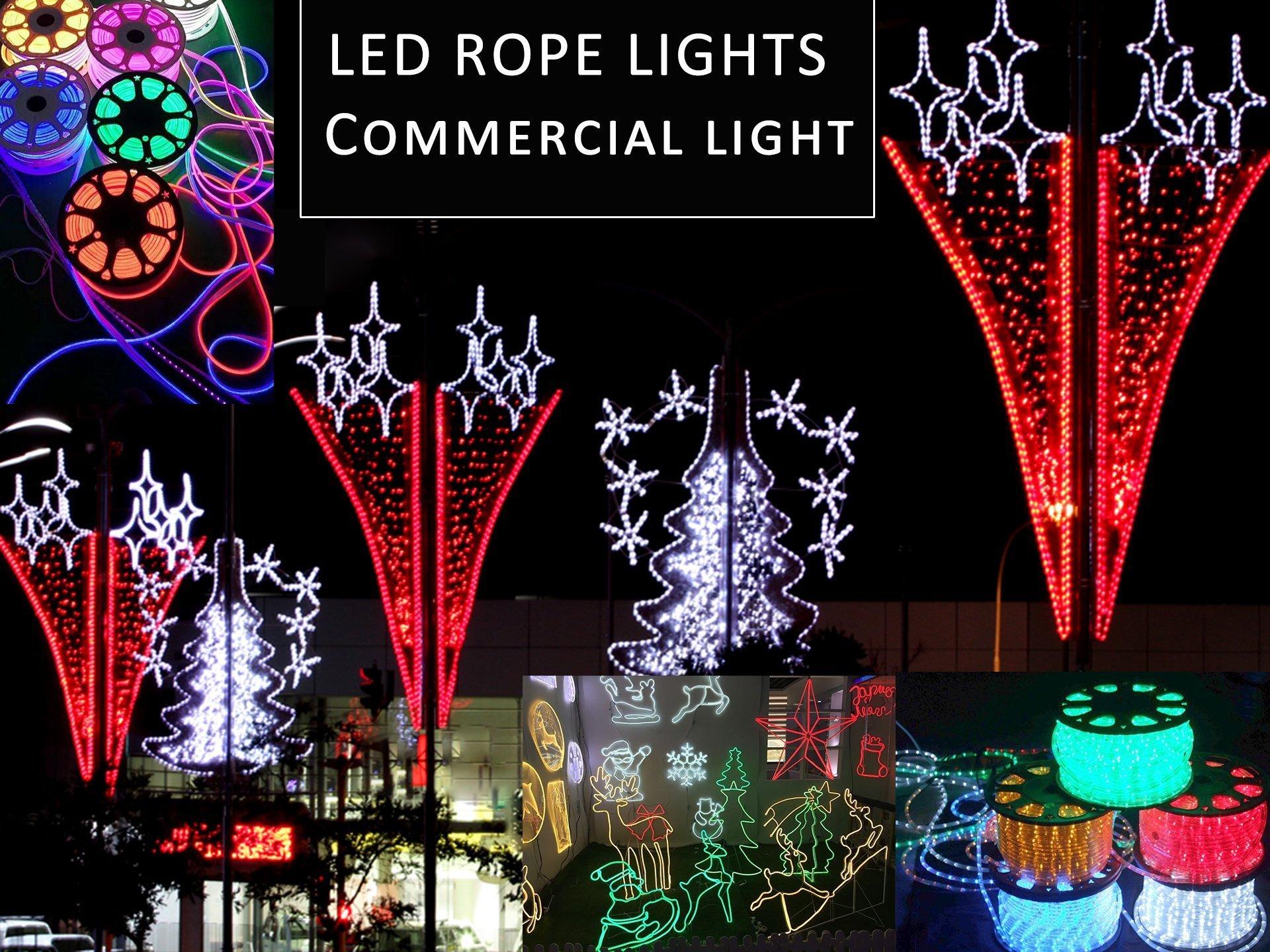 LED rope lights motif pole mounted Christmas decor