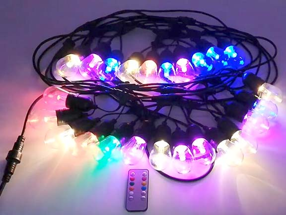 Outdoor Christmas LED Festoon lights