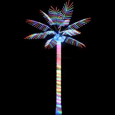 Pre lit LED coconut palm tree lights Christmas decoration