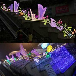 custom LED giant Christmas lights sculpture stairs holiday decoration