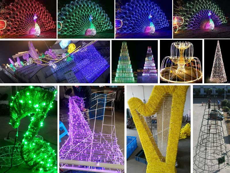 customized Giant outdoor LED sculpture decorative lights