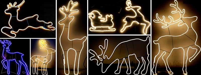 led霓虹灯图案的鹿