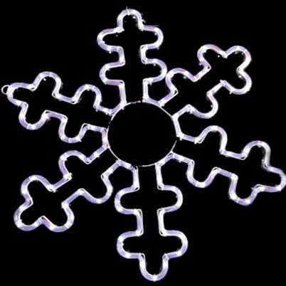 LED snowflake lights Rope motif