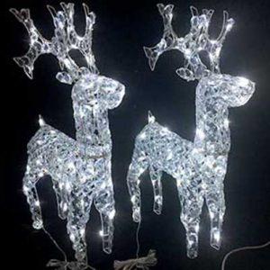 acrylic LED reindeer standing