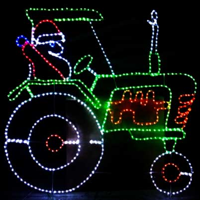 animated Santa driving train Christmas LED rope lights motif silhouette factory supply