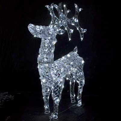 standing shining reindeer Christmas lights