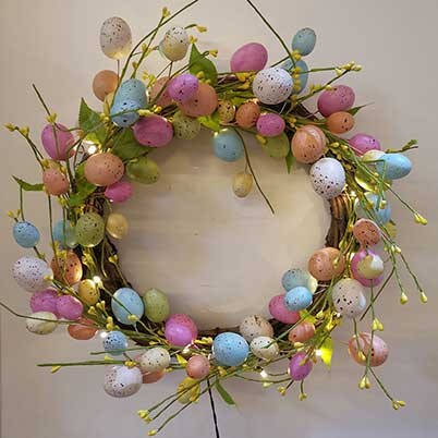 Easter egg wreaths making supplies craft outlet