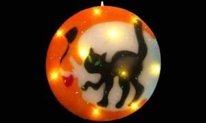 Halloween cat window decorations