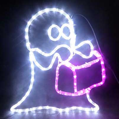 Halloween lights for outside rope lights ghost purple box motif lights