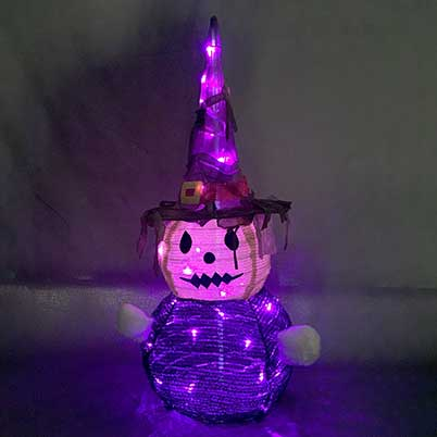 Halloween yard stakes lighted ghost with witch hat Pop-up halloween decorations