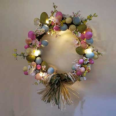 affordable Easter wreath with cross