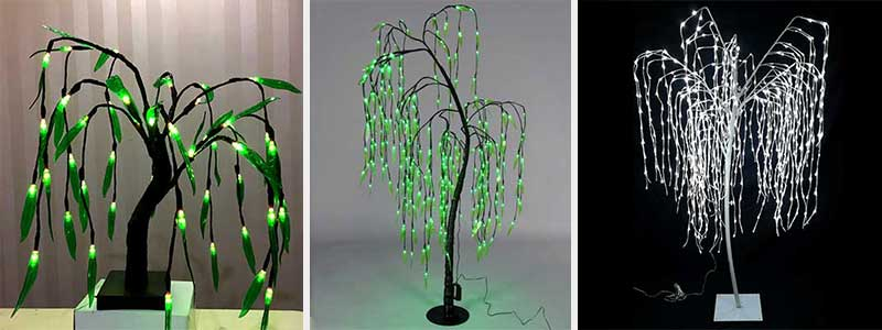 artificial weeping willow tree with lights