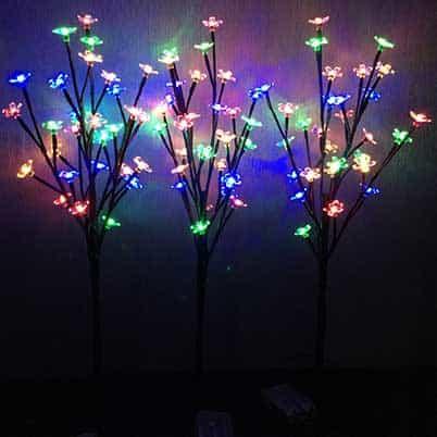 led tree light with cherry blossom