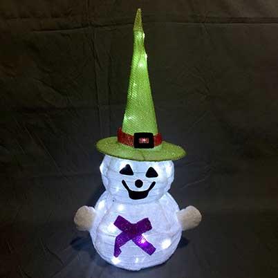 Halloween ghost yard displays lights